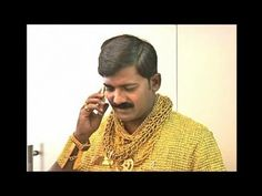 Tailored for Fame: Indian Man Wears $250,000 Shirt Made of Gold - YouTube