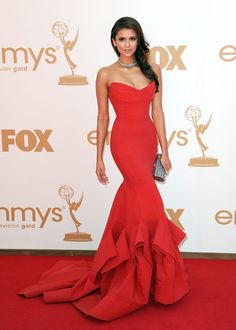 Red Nina Dobrev Dress Highly Praised at Emmy Awards Evening Dress Kadisua Backless Long Celebrity Dresses Red Carpet Dresses Evening Dress Long, Evening Dresses, Prom Dresses, Formal Dresses, Mermaid Dresses, Dress Prom, Mermaid Gown, Luulla Dresses, Dresses 2014