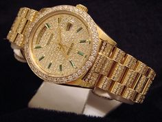 replica mens gold and diamonds rolex | Mens Rolex 18k Gold Day Date President Diamond Watch
