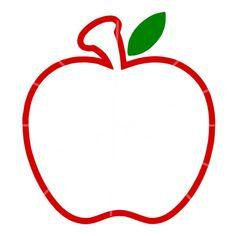 SVG - Apple Monogram Frame SVG - Apple Frame - Apple Outline - Apple - Teacher Gift - Teacher Appreciation - Teacher Appreciation Gift