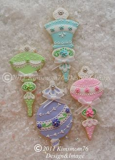 Christmas Ornament Cookies in album: Cookies. Beautiful