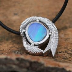 2.71ct Opal Pendant in Sterling Silver, Handmade with Natural Australian Opal by Anderson-Beattie.com #opalsaustralia