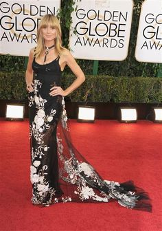 Heidi Klum attends the 71st annual Golden Globe Awards held at The Beverly Hilton Hotel in Beverly Hills, Calif., on Jan. 12, 2014.