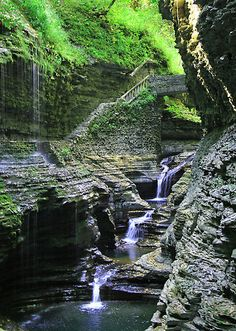Watkins-Glenn State Park at the finger Lakes NY. Beautiful! Be prepared for a workout. 0ver 800 steps to the top of the gorge!