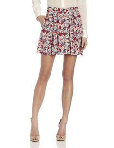 BCBGeneration Women's Pleated Skirt, Bright Red Multi, 8 BCBGeneration. $88.00
