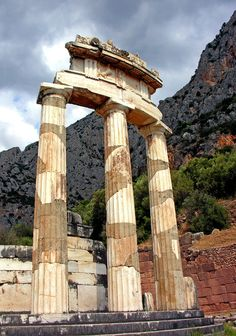 Tholos of Delphi Places Around The World, Around The Worlds, Circular Buildings, Cradle Of Civilization, All Inclusive Vacations, Tourist Information, Europe, Vacation Packages, Ancient Greece