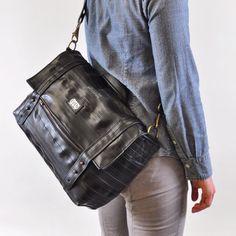 The new Kiefer laptop bag. Made from reclaimed bike inner tubes. Coming Soon!