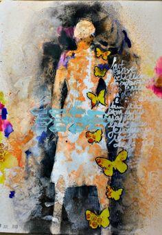 Du bonheur en scrap: Art journal, deux pages