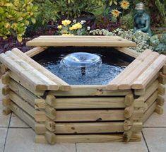 Landschaftsbau » Kleiner Gartenteich Anlegen U2013 Bauanleitung Für Teichbecken  Aus Holz #anlegen #bauanleitung #