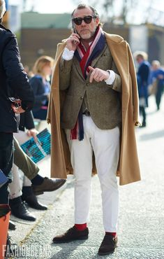Alessandro Squarzi, Photographed in Florence<br/> Click Photo To See Fashion For Men Over 50, Mature Fashion, Stylish Men, Men Casual, Mens Fashion, Fashion Outfits, Style Fashion, Sharp Dressed Man, Men Street