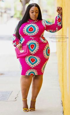fe6bb817aa African Safari, Real Women, Personal Style, High Neck Dress, Curves, African