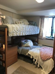 Dorm room layouts - 15 Remarkable Bunk Beds Queen Over Twin White Bunk Beds For Kids Twin Over Twin furnitureduco furnitureanak bunkbeds Dorm Room Layouts, Dorm Room Designs, Bunk Bed Designs, Dorm Layout, Girl Room, Girls Bedroom, Bedroom Decor, Bedrooms, Bedroom Ideas