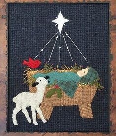 Primitive Wool Applique PATTERN - Star of Wonder - UGM