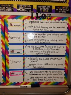 I can statements for both content and language objectives