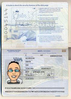 Estonia passport - ALEXPSD Passport Template, Psd Templates, Color Change, Photoshop, Names