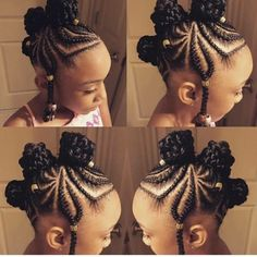 35 Cornrow Hairstyles Cornrows are an amazing way of styling your hair in unique and creative ways. The styles you can create with cornrows are limited only by yo Box Braids Hairstyles, Kids Braided Hairstyles, Little Girl Hairstyles, African Hairstyles For Kids, Teenage Hairstyles, Hairstyles Videos, Holiday Hairstyles, Creative Hairstyles, Protective Hairstyles