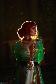 Triss Merigold cosplay The Witcher The Witcher Geralt, Witcher Art, Ciri, Dark Fantasy Art, Fantasy Girl, Fantasy Characters, Female Characters, Witcher Wallpaper, The Witcher Wild Hunt