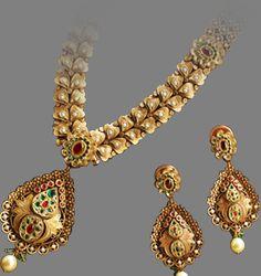Latest Indian Gold and Diamond Jewellery Designs: TBZ Dohra Detachable Jewellery collection