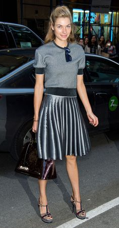 Shine on, silver sister! 3 ways to make that metallic skirt trend work for you.
