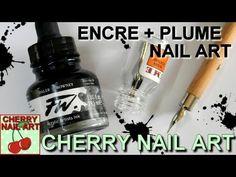 Tuto technique à l'encre et la plume — Cherry Nail Art Cherry Nail Art, Cute Nails, Ink, Artist, Youtube, Beauty Care, Feather, Polish, Ongles
