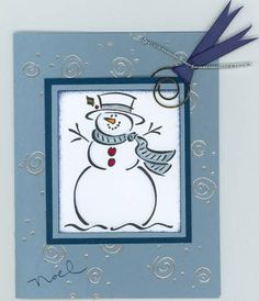 Frosty With Bling by wickedaunt - Cards and Paper Crafts at Splitcoaststampers
