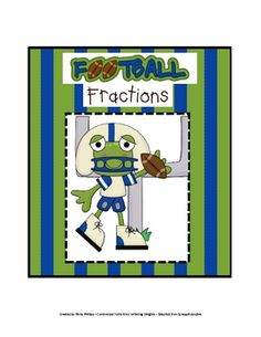 This is a comparing fractions game with a Froggy Football theme. Students will pull a card that has two fractions on it. They will then tell greate...