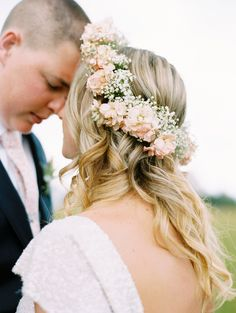flower crown - photo by Cassidy Brooke http://ruffledblog.com/mountain-wedding-in-colorado