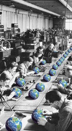 Utopia by Annette von Stahl collage artist Surreal Collage, Surreal Art, Collages, Collage Art, Arte Pop, Art And Illustration, Grafik Art, Photocollage, Retro Futurism