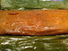 """Pasteles de Pollo. One of my favorite Puerto Rican holiday dishes. The """"masa"""" is made of plantains and yautía, the filling of chicken, garbanzos & island flava. All wrapped in a plantain leaf! Read about them here: http://www.eco-rico.com/diary/puerto-rican-pasteles/"""