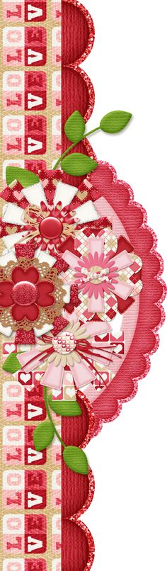 Scrapbooking TammyTags -- TT - Designer - 4 My Babies Scraps, TT - Item - Border, TT - Style - Cluster, TT - Theme - Love, Valentines, or Wedding