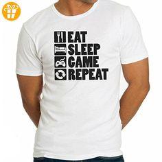 Eat Sleep Game Repeat XL Herren T-Shirt (*Partner-Link)