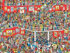 Keep Searching! But where are Wally and Wizard Whitebeard? Ou Est Charlie, Can You Find It, Wheres Wally, Outer Space Theme, School Images, Brain Gym, Hidden Pictures, I Spy, Brain Teasers