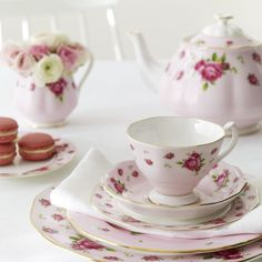 Royal Albert New Country Roses Pink tea party