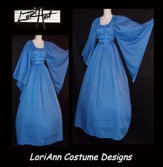 ANY Color Fantasy Dress Gown Costume Choose Size XS S by loriann37