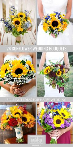 24 Brilliant Sunflower Wedding Bouquets For Happy Wedding ❤ Here you find ideas…