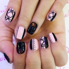 black and purple nail art - Instagram media by beeqnails - Cool chick feel for Sharon Wong this time round