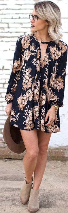 Jo&kemp Fall Little Dress Outfit Fall autumn women fashion outfit clothing stylish apparel @roressclothes closet ideas