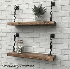 Rustic Handmade Solid Black Steel Chain Floating Shelves - Rustic Handmade Solid Steel Chain Shelves Solid Wood All Of Our Shelves Are Natural Solid Pine Every Rustic Shelf Made In Our Workshop Is Unique In Its Look Made From Hand Selected Reclaimed Tim Bespoke Furniture, Diy Furniture, Quality Furniture, Rustic Wood Furniture, Handmade Furniture, Luxury Furniture, Diy Home Decor, Room Decor, Wall Decor Design