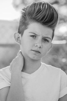 Medium Brushed Up Cuts Pompadour ❤ Choosing your boy haircuts is a tough job, since kids these days are all about fashion. With us you will learn everything about the recent boy hair trends! Trendy Boys Haircuts, Trendy Mens Hairstyles, Boy Hairstyles, Boy Haircuts, Trending Haircuts, Crew Cuts, Pompadour, Little Man, Barbershop