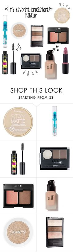 """""""My Favorite Drugstore Makeup"""" by eliza-blankenship ❤ liked on Polyvore featuring beauty, Rimmel, Forever 21, Charlotte Russe, e.l.f., Wet n Wild and Old Navy"""