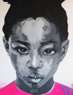 Art, Portrait. Acrylic on Paper, Arte, Retrato. Ainhoa Azumendi