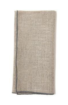 Duet Natural with Grey Linen Napkins S/4 $56.00