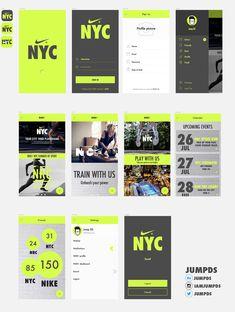 NIKE+ NYC App UI on Behance