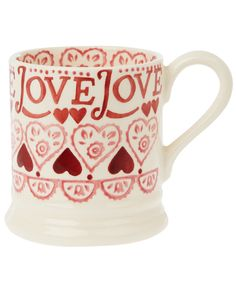 Red Sampler Half Pint Mug, Emma Bridgewater. Shop the latest mugs from the Emma Bridgewater collection online at Liberty.co.uk