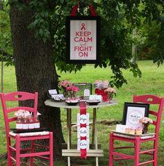buffet table on wine barrels