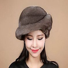 accesorios de piel sombrero de piel de piel de visón ocasión especial / sombrero informal (más colores) – GBP £ 170.84