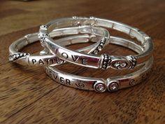Love is Patient   Set of 3 Bracelets with 1 Corinthians 13