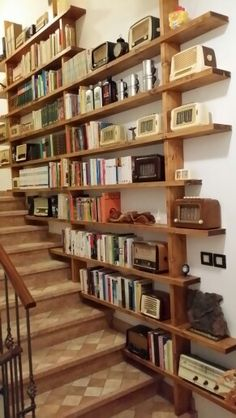 scandinavian home decor Home Library Design, House Design, Flur Design, Bookshelf Design, Home Libraries, Staircase Design, My Dream Home, Home Projects, Future House