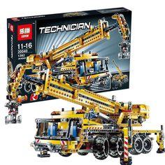 84.55$  Buy here  - Lepin 20040 1392Pcs Technic Mechanical Series The Moving Crane Set Educational Building Blocks Bricks Toys Model Compatible 8053
