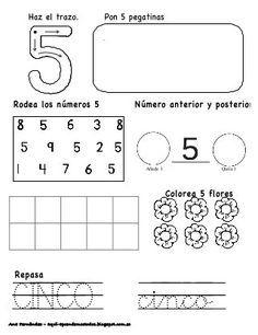 Números hasta el 10 - modificado Math 4 Kids, Kindergarten Math Activities, Math Literacy, Preschool Worksheets, Spanish Lessons For Kids, Learning Spanish, Kids Learning, Preschool Spanish, Procedural Writing